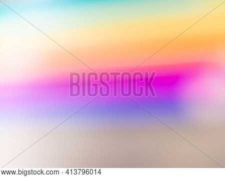 Gradient From Different Colors Of The Rainbow. Bright Multicolored Background.