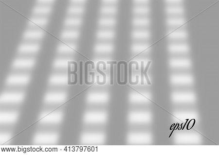 Realistic Window Shadow. Multiply Overlay Effect. Long Shadow Light On Wall Or Floor. Mesh Gradient