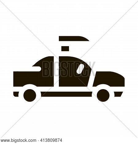 Car Door Tuning Glyph Icon Vector. Car Door Tuning Sign. Isolated Symbol Illustration