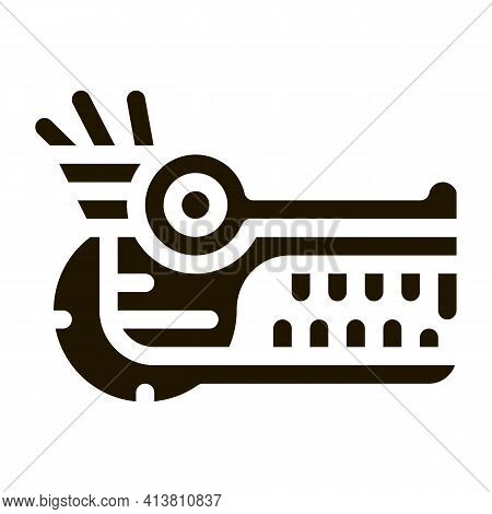 Sacred Totem Animal Head Glyph Icon Vector. Sacred Totem Animal Head Sign. Isolated Symbol Illustrat