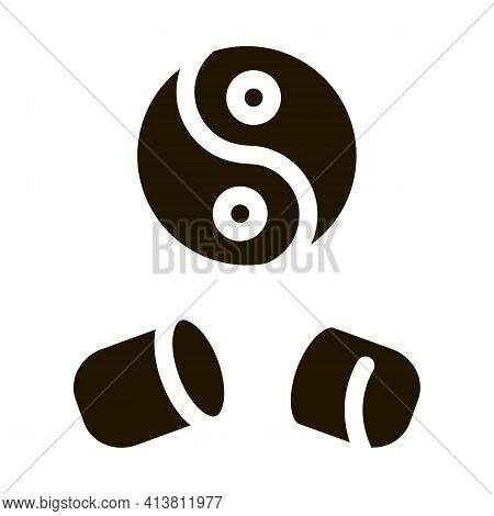 Yin Yang Capsule Glyph Icon Vector. Yin Yang Capsule Sign. Isolated Symbol Illustration