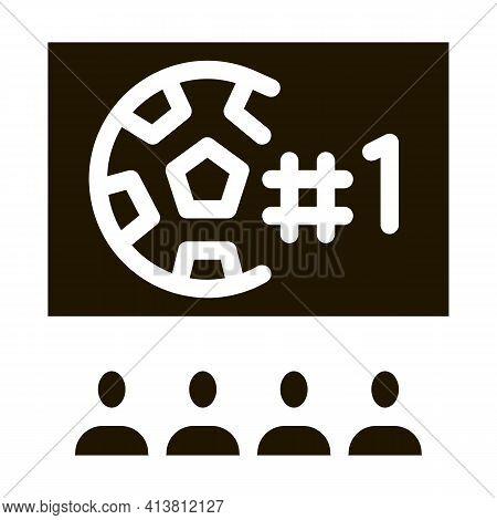 Football Fan Club Glyph Icon Vector. Football Fan Club Sign. Isolated Symbol Illustration