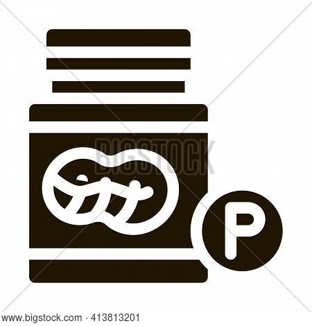 Bottle Of Fats Glyph Icon Vector. Bottle Of Fats Sign. Isolated Symbol Illustration
