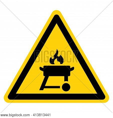 Barbeque Symbol Sign,vector Illustration, Isolate On White Background Label. Eps10