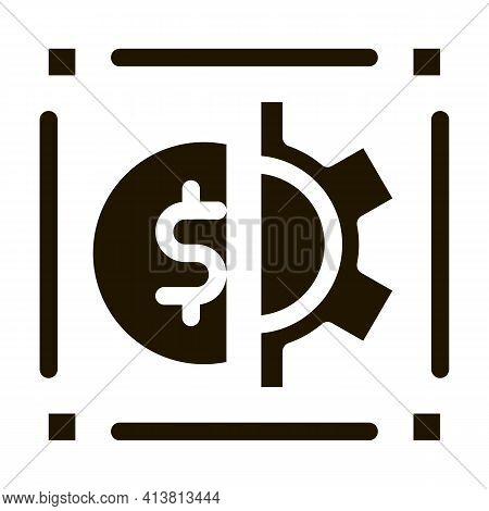 Cash Account Credentials Glyph Icon Vector. Cash Account Credentials Sign. Isolated Symbol Illustrat