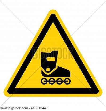 Inline Skates Symbol Sign,vector Illustration, Isolate On White Background Label. Eps10