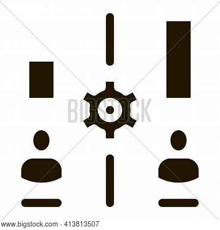 Different Resources Of People Glyph Icon Vector. Different Resources Of People Sign. Isolated Symbol