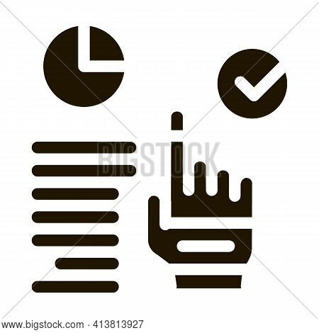 Long Workflow Management Glyph Icon Vector. Long Workflow Management Sign. Isolated Symbol Illustrat