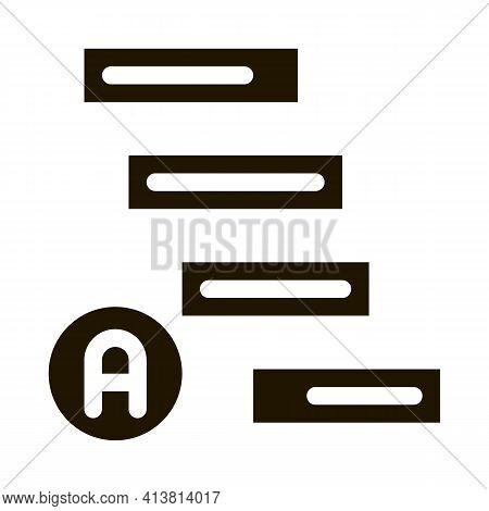 Graphical Automatic Algorithm Glyph Icon Vector. Graphical Automatic Algorithm Sign. Isolated Symbol