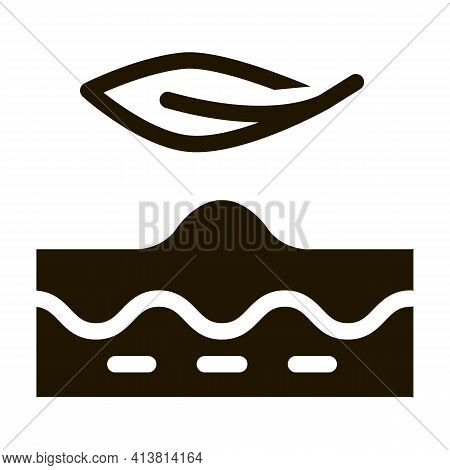 Smoothing Problem Areas Of Skin Glyph Icon Vector. Smoothing Problem Areas Of Skin Sign. Isolated Sy
