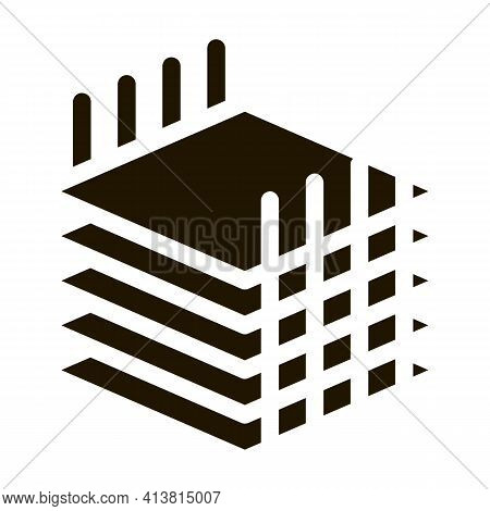 Building Sheets For Home Glyph Icon Vector. Building Sheets For Home Sign. Isolated Symbol Illustrat
