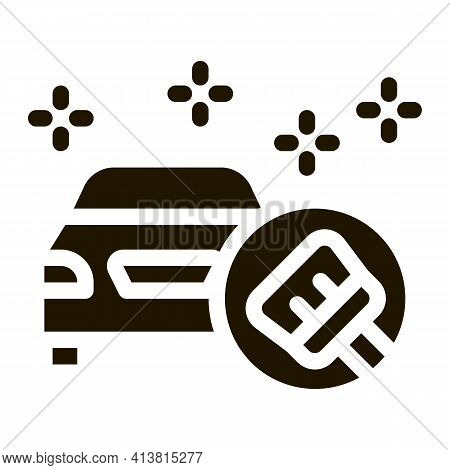 Perfect Cleaning Machine Glyph Icon Vector. Perfect Cleaning Machine Sign. Isolated Symbol Illustrat