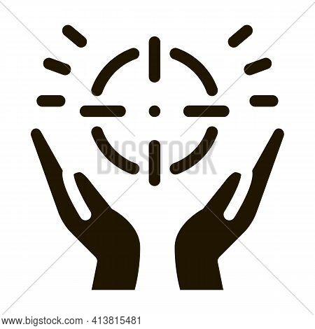 Exaltation Of Purpose Glyph Icon Vector. Exaltation Of Purpose Sign. Isolated Symbol Illustration