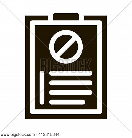 Written Protest Requests Glyph Icon Vector. Written Protest Requests Sign. Isolated Symbol Illustrat
