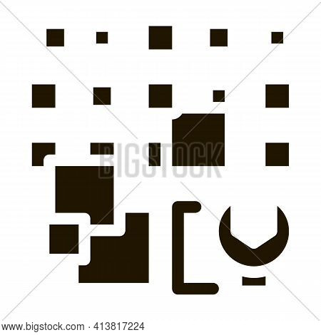 Total Particle Removal Glyph Icon Vector. Total Particle Removal Sign. Isolated Symbol Illustration