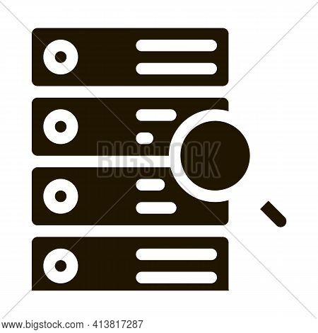 Particle Research Algorithm Glyph Icon Vector. Particle Research Algorithm Sign. Isolated Symbol Ill