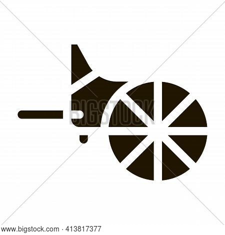Wooden Greek Wheel Glyph Icon Vector. Wooden Greek Wheel Sign. Isolated Symbol Illustration