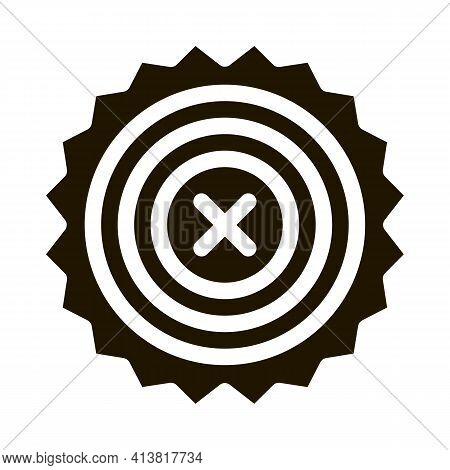 Prohibition Of Proceedings Glyph Icon Vector. Prohibition Of Proceedings Sign. Isolated Symbol Illus