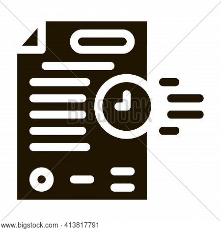Adjournment Of Trial Date Glyph Icon Vector. Adjournment Of Trial Date Sign. Isolated Symbol Illustr