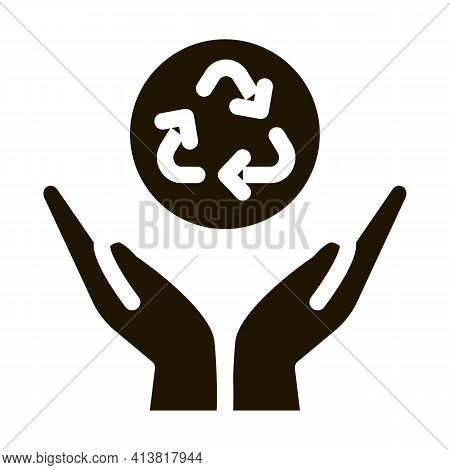 Manual Environmental Industry Glyph Icon Vector. Manual Environmental Industry Sign. Isolated Symbol