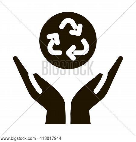 Manual Environmental Industry Glyph Icon Vector. Manual Environmental Industry Sign. Isolated Symbol