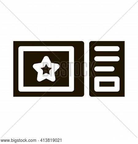 Amusement Park Ticket Glyph Icon Vector. Amusement Park Ticket Sign. Isolated Symbol Illustration