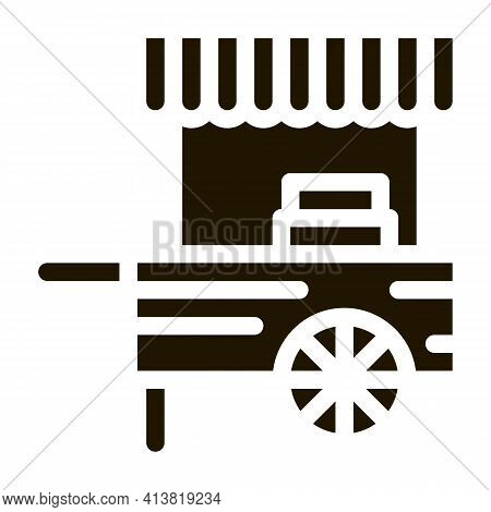 Mobile Food Stalls Glyph Icon Vector. Mobile Food Stalls Sign. Isolated Symbol Illustration