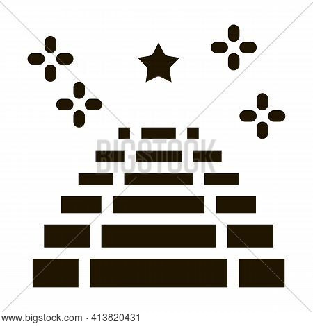 Seat Place Event Glyph Icon Vector. Seat Place Event Sign. Isolated Symbol Illustration