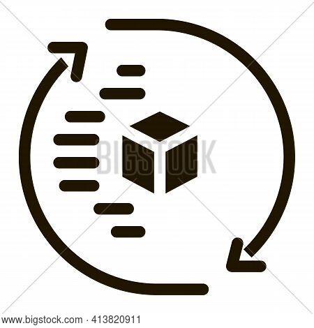 Technical Aspect Of Sending Glyph Icon Vector. Technical Aspect Of Sending Sign. Isolated Symbol Ill