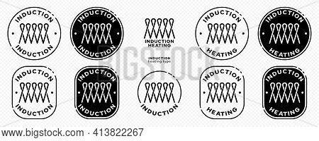 Concept For Product Packaging. Marking Is An Induction Type Of Heating. Flat Induction Symbol In A S