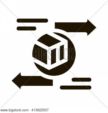 Shipping And Arrival Glyph Icon Vector. Shipping And Arrival Sign. Isolated Symbol Illustration