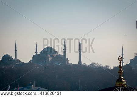 Hagia Sophia Mosque Photo. Ramadan In Istanbul. Ramadan Background Photo. Mosque's Of Istanbul. High