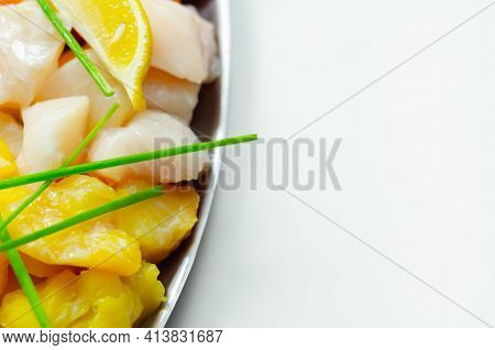 Fish Pie Mix, Defrosted, Skinless And Boneless Cod, Dyed Smoked Haddock And Salmon