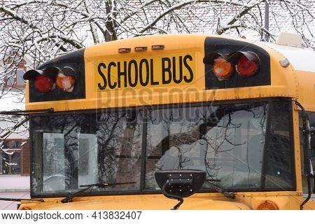 School Bus For Driving Schoolchildren Safely To School