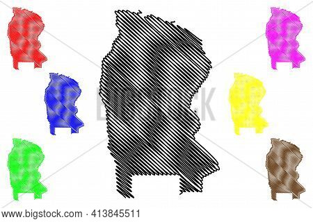 West Kordofan State (republic Of The Sudan, North Sudan) Map Vector Illustration, Scribble Sketch We