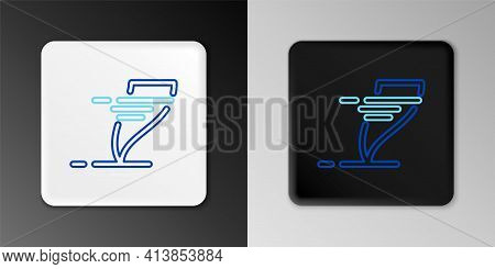 Line Tornado Icon Isolated On Grey Background. Cyclone, Whirlwind, Storm Funnel, Hurricane Wind Or T