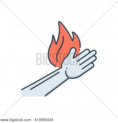 Color Illustration Icon For Burn Burnout Injury Burn-hand Pain.svg