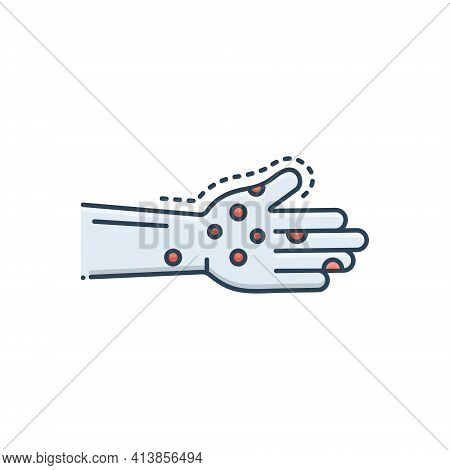 Color Illustration Icon For Infection Diseases Virus Epidemiology Allergy
