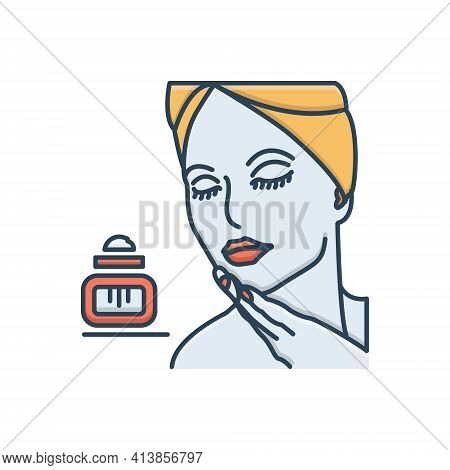 Color Illustration Icon For Beauty Fineness Loveliness Gratefulness Beautiful