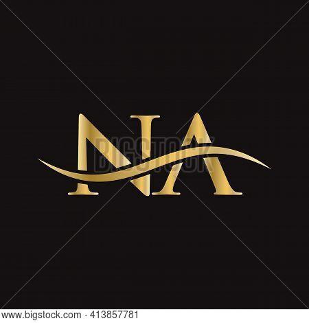 Na Logo. Monogram Letter Na Logo Design Vector. Na Letter Logo Design With Modern Trendy.