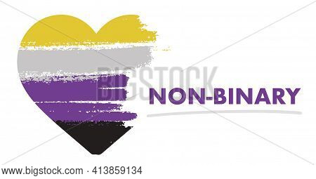 Non Binary Flag. Lgbt Pride Month In June. Lesbian Gay Bisexual Transgender. Celebrated Annual. Rain
