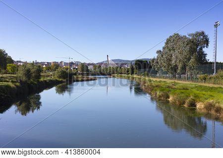 River In The City Of Pontevedra In Galicia, Spain