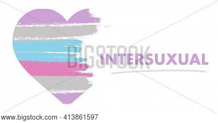 Intersexual Flag. Lgbt Pride Month In June. Lesbian Gay Bisexual Transgender. Celebrated Annual. Rai