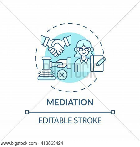 Mediation Concept Icon. Legal Services Categories. Effective Mediation Services Keep Disputes Out Of