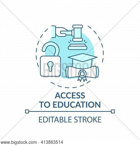 Access To Education Concept Icon. Legal Services Types. Providing All Needed Informaton To Improve S