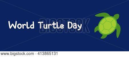 World Turtle Day. Turtle Icon. Vector Illustration