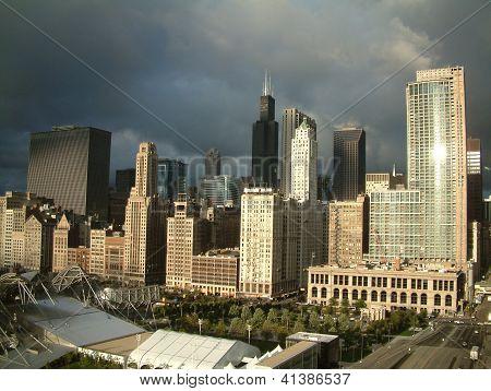 Gray Chicago Sky