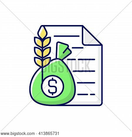 Commodity Broker Rgb Color Icon. Business Contract. Trading Deal For Agricultural Industry. Financia