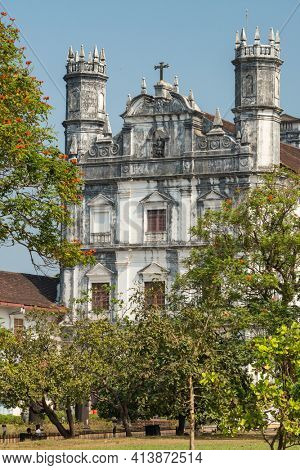 Church of St. Francis of Assisi, old Goa, India. Landmarks of Goa