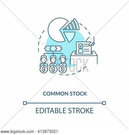 Common Stock Concept Icon. Stock Type Idea Thin Line Illustration. Holders In Public Corporations. C
